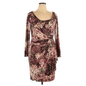 SUZI CHIN Snake Printed Jersey Wrap Dress sz 14